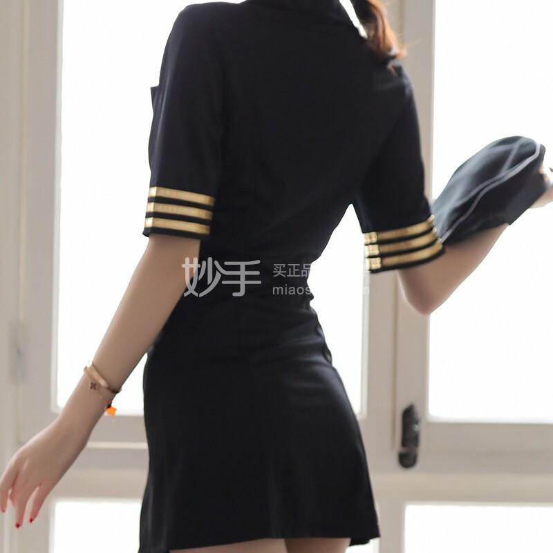 瑰若 高端制服角色扮演外穿可爱性感套装 138黑色