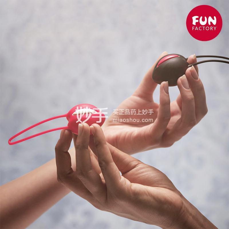 德国FunFactory智能缩阴训练球双球 白/印度红