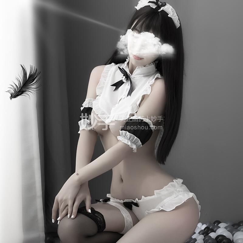 品贤 毛绒小球兔尾分体式性感兔女套装