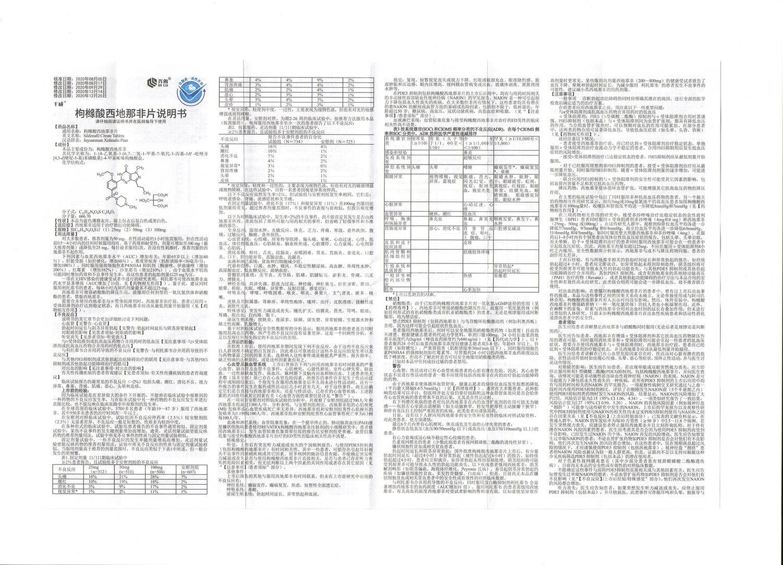 齐鲁 千威 枸橼酸西地那非片 50mg*6片